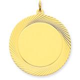 Etched Design .035 Gauge Circular Engravable Disc Charm 14k Gold XM146/35