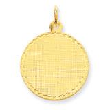 Patterned .013 Gauge Circular Engravable Disc Charm 14k Gold XM264/13