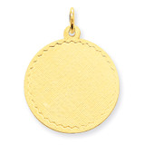 Patterned .018 Gauge Circular Engravable Disc Charm 14k Gold XM265/18
