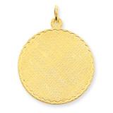 Patterned .018 Gauge Circular Engravable Disc Charm 14k Gold XM266/18