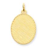 Patterned .018 Gauge Engravable Oval Disc Charm 14k Gold XM267/18