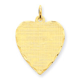 Patterned .018 Gauge Engravable Heart Disc Charm 14k Gold XM272/18