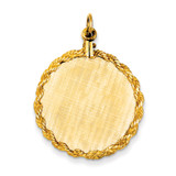 Patterned .013 Gauge Circular Engravable Disc with Rope Charm 14k Gold XM278/13