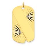Patterned .018 Gauge Engravable Dog Tag Disc Charm 14k Gold XM302/18