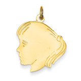 Girl Head Charm 14k Gold XM330/13