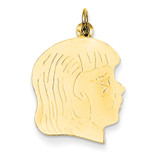 Girl Head Charm 14k Gold XM331/18
