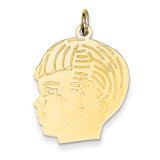 Boy Head Charm 14k Gold XM332/13