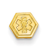 Non-enameled Attachable Medical Emblem Charm 14k Gold XM401N