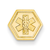 Non-enameled Attachable Medical Emblem Charm 14k Gold XM402N