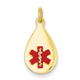 Medical Jewelry Pendant 14k Gold XM404