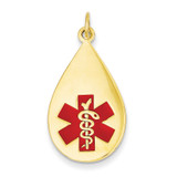 Medical Jewelry Pendant 14k Gold XM405