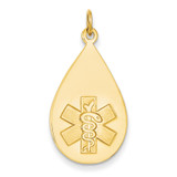 Medical Jewelry Unenameled Pendant 14k Gold XM405N