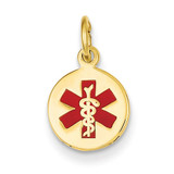 Medical Jewelry Pendant 14k Gold XM406