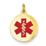 Medical Jewelry Pendant 14k Gold XM407