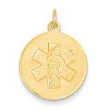 Non-enameled Medical Jewelry Pendant 14k Gold XM408N