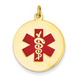 Medical Jewelry Pendant 14k Gold XM409