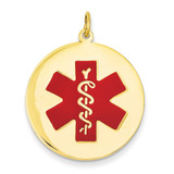 Medical Jewelry Pendant 14k Gold XM410