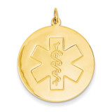 Medical Jewelry Unenameled Pendant 14k Gold XM410N