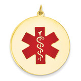 Medical Jewelry Pendant 14k Gold XM411