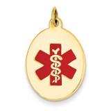 Medical Jewelry Pendant 14k Gold XM414