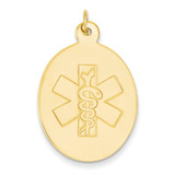 Non-enameled Medical Jewelry Pendant 14k Gold XM415N