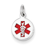 Medical Jewelry Pendant 14k White Gold XM444