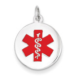Medical Jewelry Pendant 14k White Gold XM445