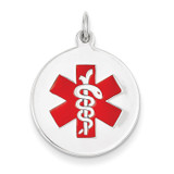 14kw Medical Jewelry Pendant 14k White Gold XM446