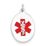 Medical Jewelry Pendant 14k White Gold XM451