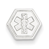 Non-enameled Medical Jewelry Pendant 14k White Gold XM456N
