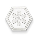Non-enameled Medical Jewelry Pendant 14k White Gold XM457N
