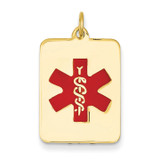 Medical Jewelry Pendant 14k Gold XM55
