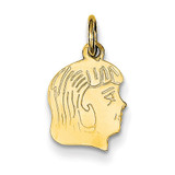 Girl Head Charm 14k Gold XM89/11