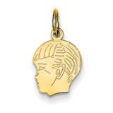Boy Head Charm 14k Gold XM90/18