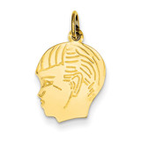 Boy Head Charm 14k Gold XM96/18