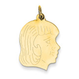 Girl Head Charm 14k Gold XM97/13