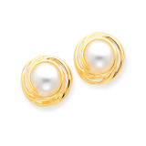 Mabe Cultured Pearl Earrings 14k Gold XMP52
