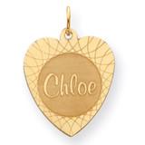 Heart Disc Nameplate 14k Gold XNA105Y
