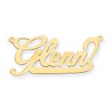 0.013 Gauge Polished Nameplate Pendant 14k Gold XNA129Y