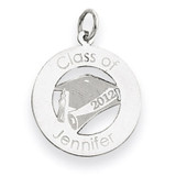 Personalized Graduation Charm 14k White Gold XNA360W