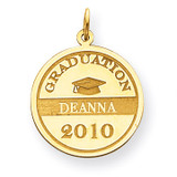 Personalized Graduation Charm 14k Gold XNA363Y