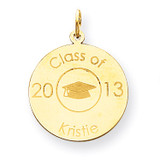 Personalized Graduation Charm 14k Gold XNA365Y