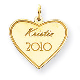 Personalized Graduation Charm 14k Gold XNA369Y