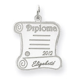 Personalized Graduation Charm 14k White Gold XNA370W