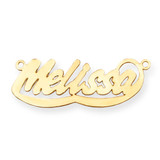 0.013 Gauge Polished Nameplate 14k Gold XNA76Y