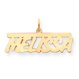 0.013 Gauge Polished Nameplate 14k Gold XNA78Y