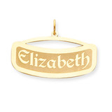Curved Nameplate 14k Gold XNA87Y