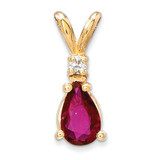 6x4mm Pear Ruby Diamond pendant 14k Gold XP1008R/AA