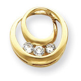 Diamond Circles Pendant Mounting 14k Gold XP1474