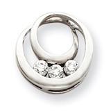 Diamond Circles Pendant Mounting 14k White Gold XP1475